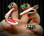 Beetlejuice Nail Art - The Maitlands by KayleighOC