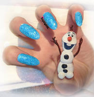 Frozen Nail Art - Olaf by KayleighOC