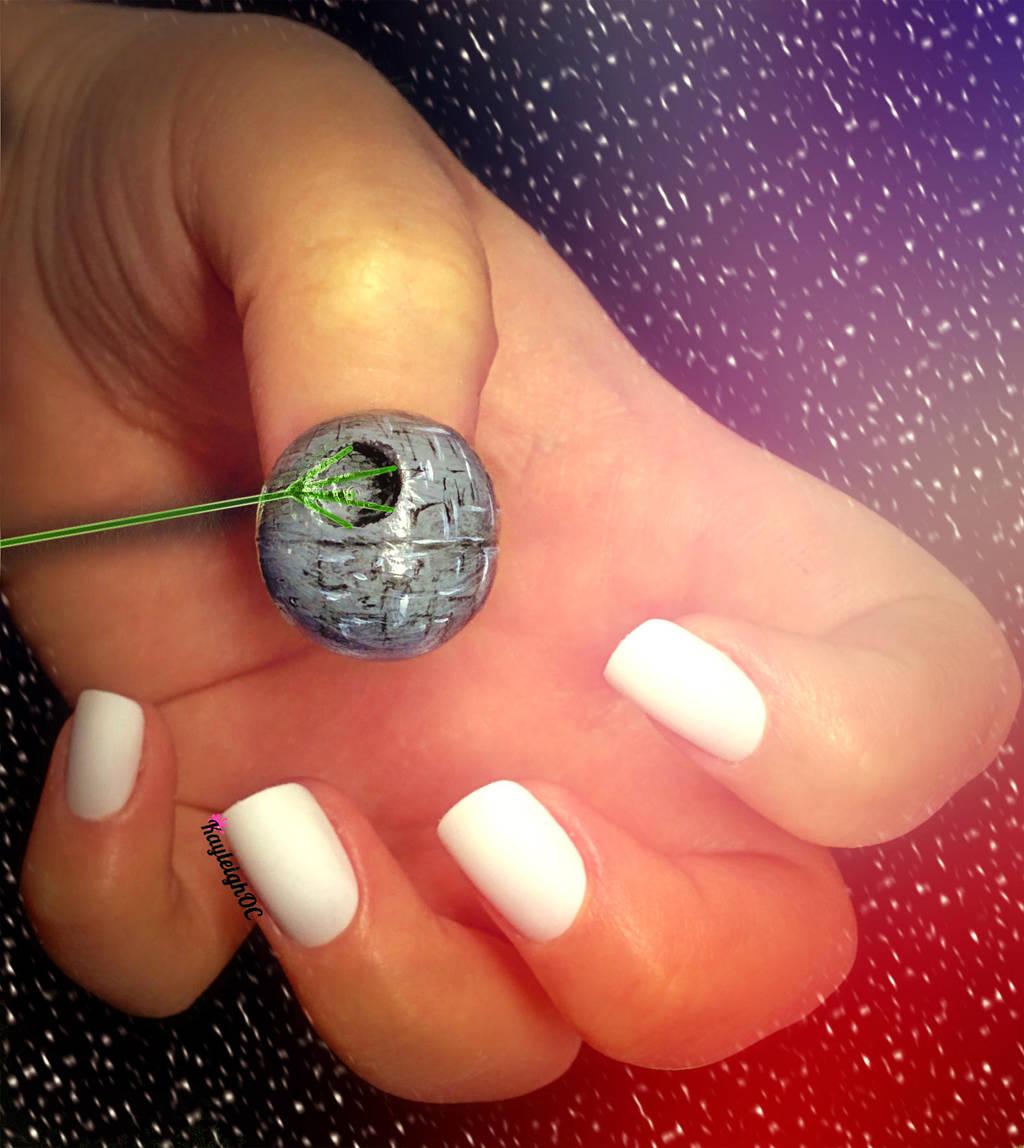 Star Wars Nail Art - Deathstar by KayleighOC