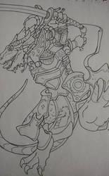 Dragonborn Paladin by pendragonvamp