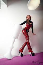 Kay Morgan leopard catsuit by Kay-Morgan
