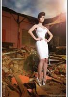 Kay Morgan - Pink corset dress and ballet heels by Kay-Morgan