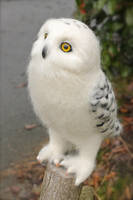 A needle felted, Snowy Owl by Yvonnesworkshop