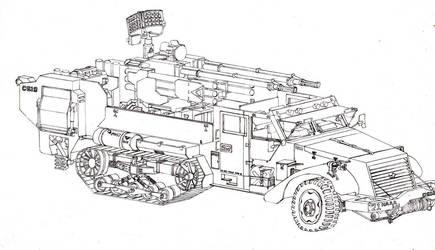 Anti Aircraft Half Truck by judgement86