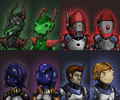 Space Characters 3 by KidneyShake