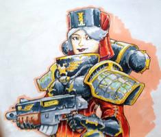 Battle Sister by KidneyShake