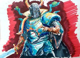 Chaos Sorceror Sketch by KidneyShake