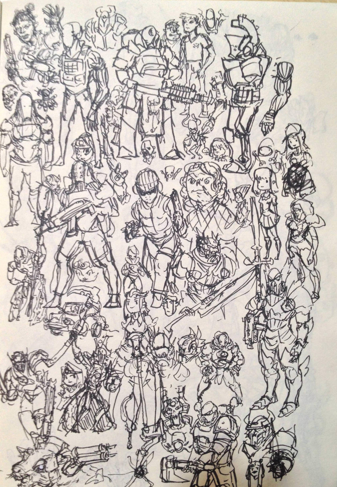Sketch Dump by KidneyShake