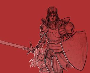Inktober 9/31 Precious Knight by KidneyShake