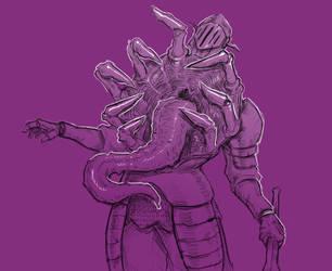 Inktober 11/31 Cruel Knight by KidneyShake