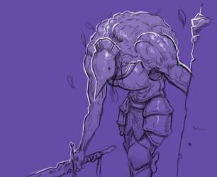 Inktober 17/31 Swollen Knight by KidneyShake