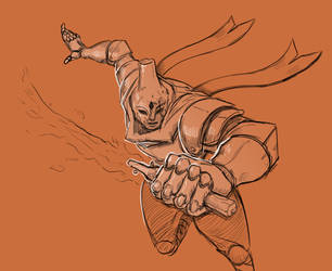 Inktober 19/31 Scorched Knight by KidneyShake