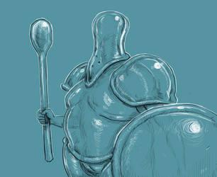 Inktober 20/31 Breakable Knight by KidneyShake