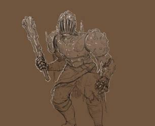 Inktober 23/31 Muddy Knight by KidneyShake
