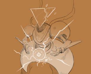 Inktober 27/31 Thunder Knight by KidneyShake