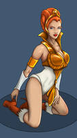 Teela 'eternian pinup' color by Marker77