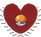 Pokemon: Pokeball - Small Heart Stamp by opalette