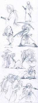 RuroKen sketches by Anniina85