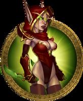 Blood Elf Girl by Petarsaur