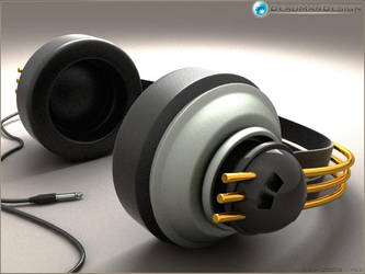 3D headphone by deadmandesign