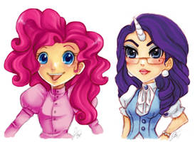 MLP FIM: Pinkie pie and Rarity by Kathisofy