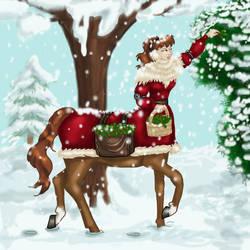 Centaur Winter Holiday by dragondoodle