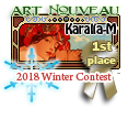 1st Place Art Nouveau Winter 2018 by dragondoodle