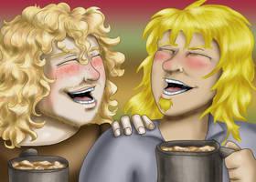 Contest Entry - Helgi and Yokov Drunken Singing by dragondoodle