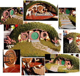 -Bag End- Lord of the Rings model Detail by pixi996