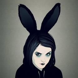 Grumpy Bunny by stuntkid