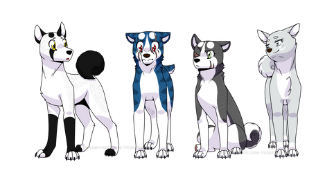Ginga OCs: 4th Generation, branch 2 by TessuDraws