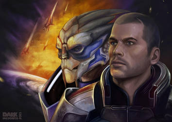 Shepard-and-garrus by HydraEvil