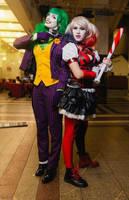 Fem Joker and Harley Quinn cosplay by HydraEvil