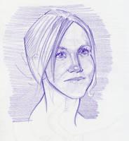 purple woman by amherman