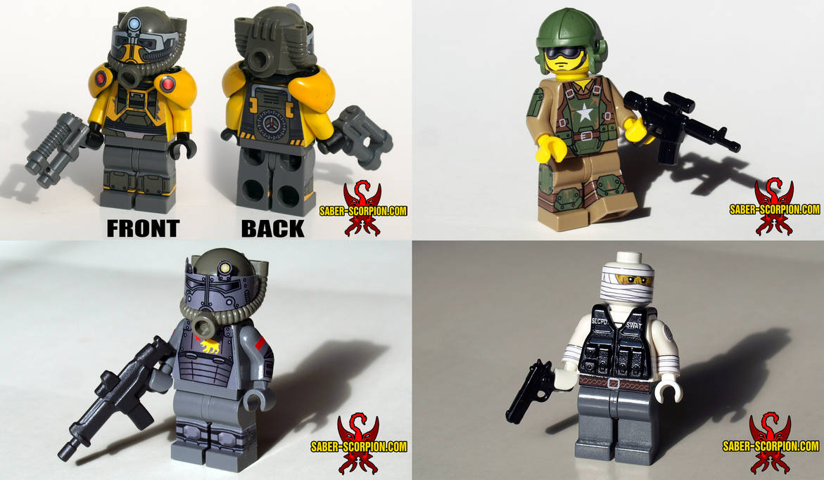 More Post-Apoc Fallout LEGO Minifigs by Saber-Scorpion