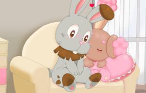 bunnies loves by jirachicute28