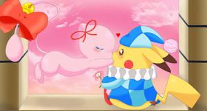 Mew and Pikachu by jirachicute28
