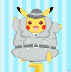 inspector pikachu by jirachicute28