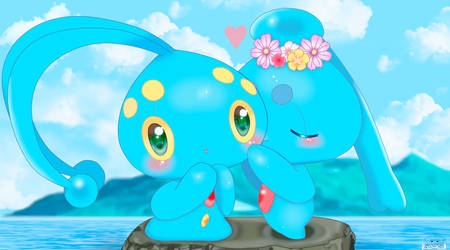 Manaphy And Phione by jirachicute28