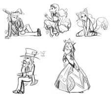 TAWM in Wonderland - Sketch by liliy