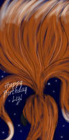 Happy BDay Liz - Fox Over Moon by liliy