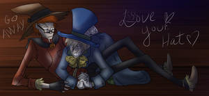 DC - Mad Hatter and Scarecrow by liliy