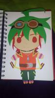 Paper Yuya by BlackThunder-chan