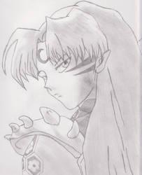 Sesshomaru Sketch by xxxchannyxxx