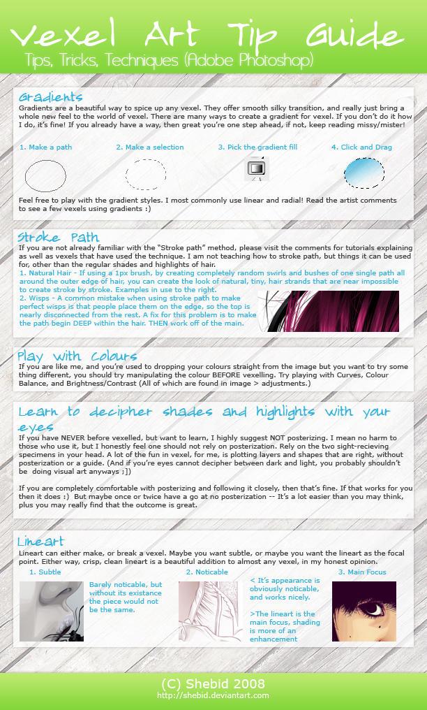 Vexel Art Tip Guide by shebid