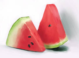 Still Life Practice Watermelon by shebid