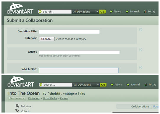 dA Suggestion - Collaborations by shebid