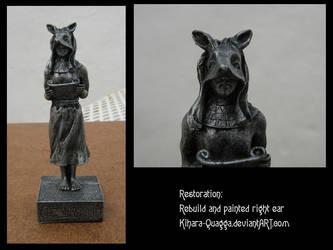 Anubis Chess Piece Restoration by Kihara-Quagga