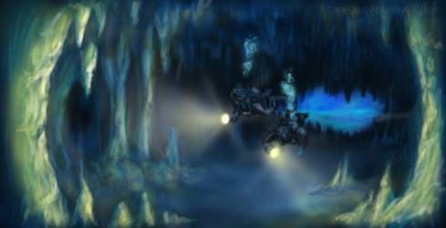 Water Cave - Speedpaint 2 by Kihara-Quagga