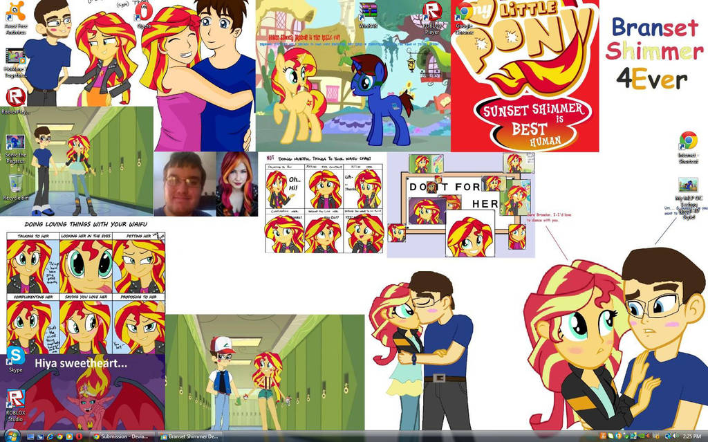 my second branset shimmer desktop with new pics by epiccartoonsfan